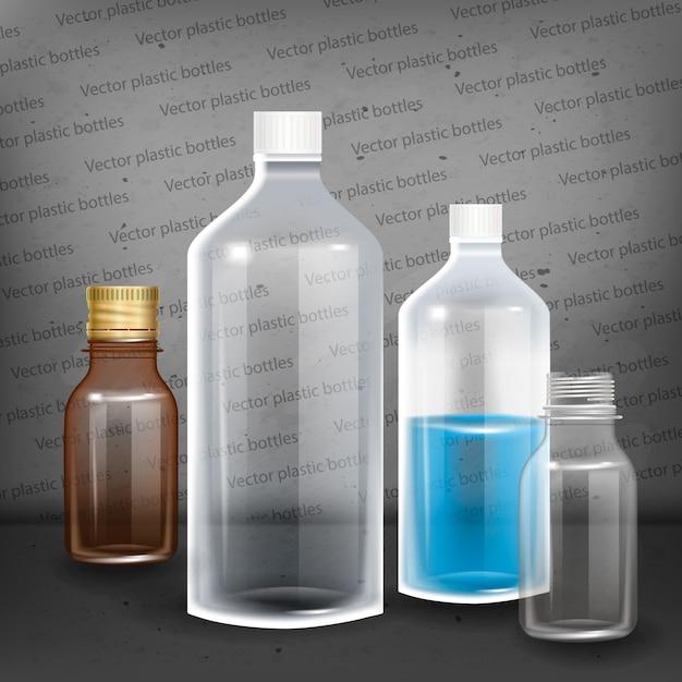 Fotorealistische flaschenillustration. Premium Vektoren