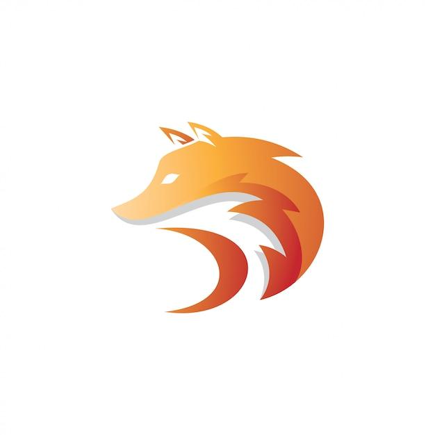 Fox foxy kopf maskottchen logo Premium Vektoren