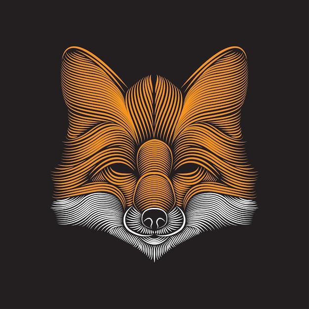 Fox linie kunstillustration Premium Vektoren