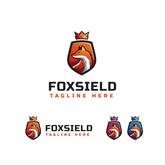 Fox sield logo-vorlage Premium Vektoren