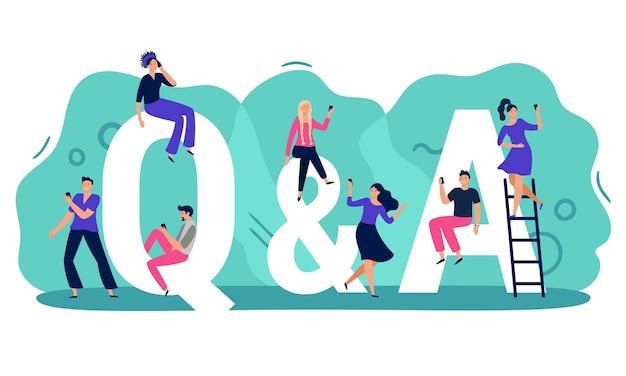 Fragen und antworten Premium Vektoren