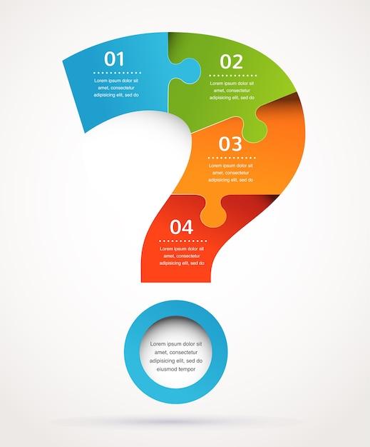 Fragezeichen abstrakten hintergrund und infografiken Premium Vektoren