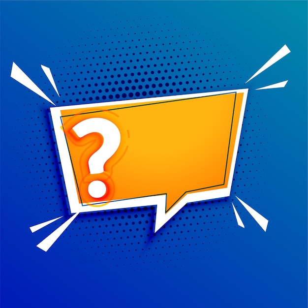 Fragezeichenvorlage mit textraumgestaltung Kostenlosen Vektoren