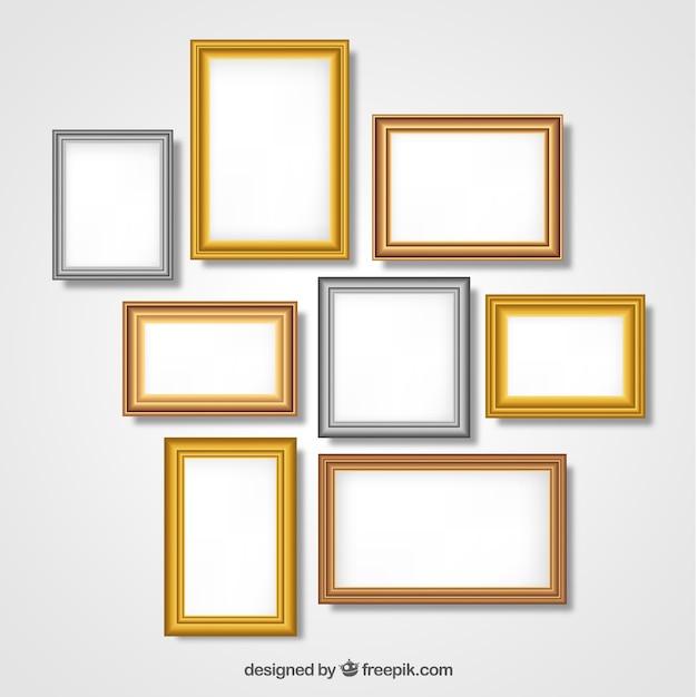 Frames sammlung mit farbverlauf Kostenlosen Vektoren
