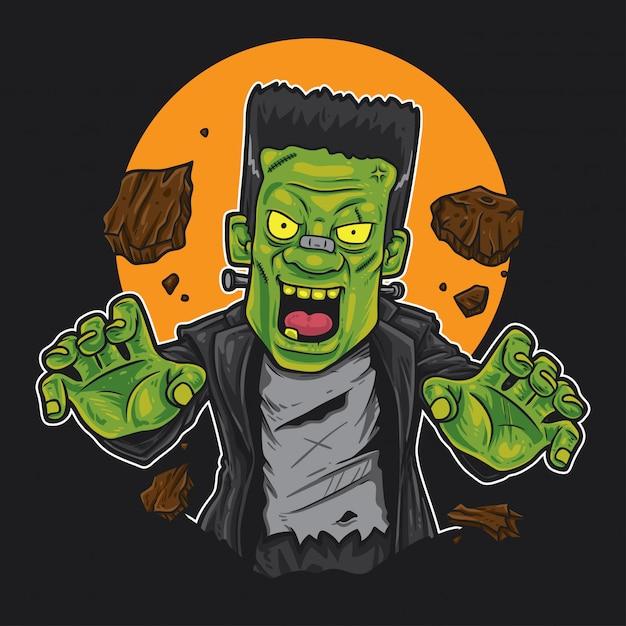 Frankenstein monster Premium Vektoren