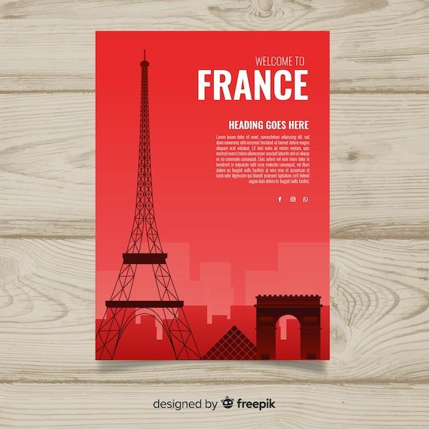 Frankreich-flyer Kostenlosen Vektoren