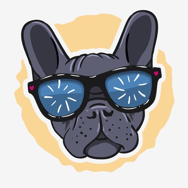 Französische bulldogge grafiken für t-shirt t-shirt Premium Vektoren