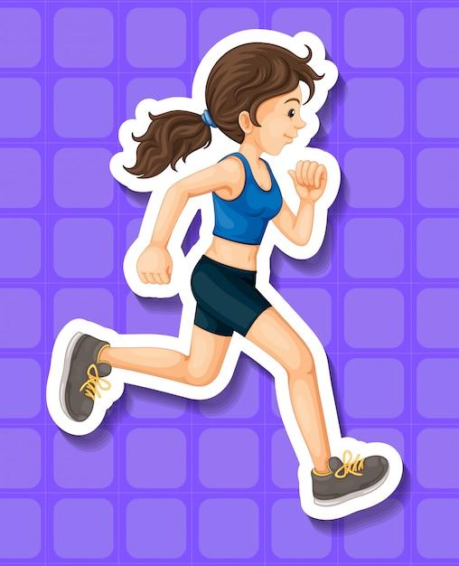 Frau beim sportkleidungslaufen Kostenlosen Vektoren