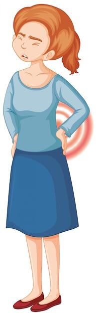 Frau mit rückenschmerzen Kostenlosen Vektoren