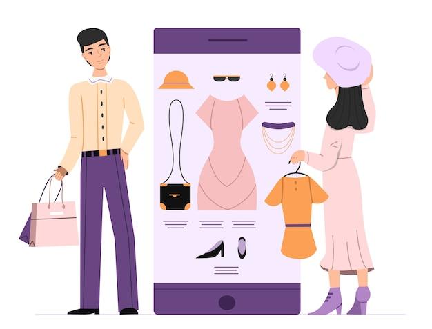 Frau online versand abbildung Kostenlosen Vektoren