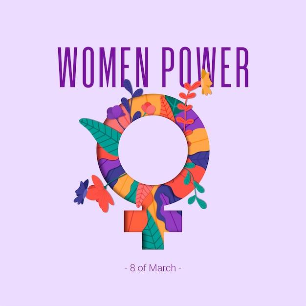 Frauen power Kostenlosen Vektoren