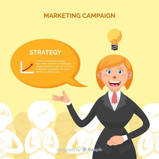 Frauenmarketing-kampagnenhintergrund Kostenlosen Vektoren