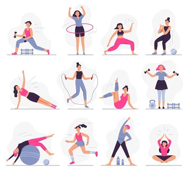 Frauensportaktivitäten Kostenlosen Vektoren