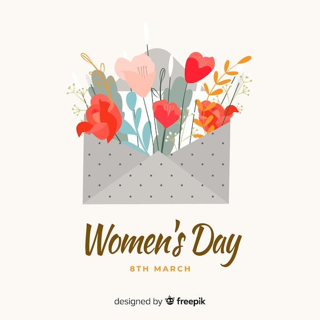 Frauentag hintergrund Kostenlosen Vektoren