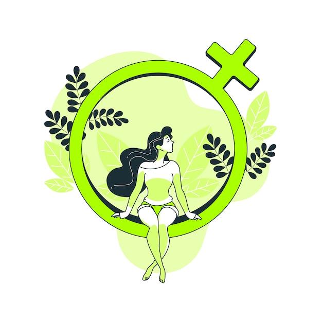 Frauentageskonzeptillustration Kostenlosen Vektoren