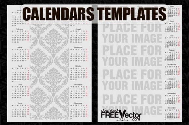 Free Vector Kalender Vorlagen Download Der Kostenlosen Vektor
