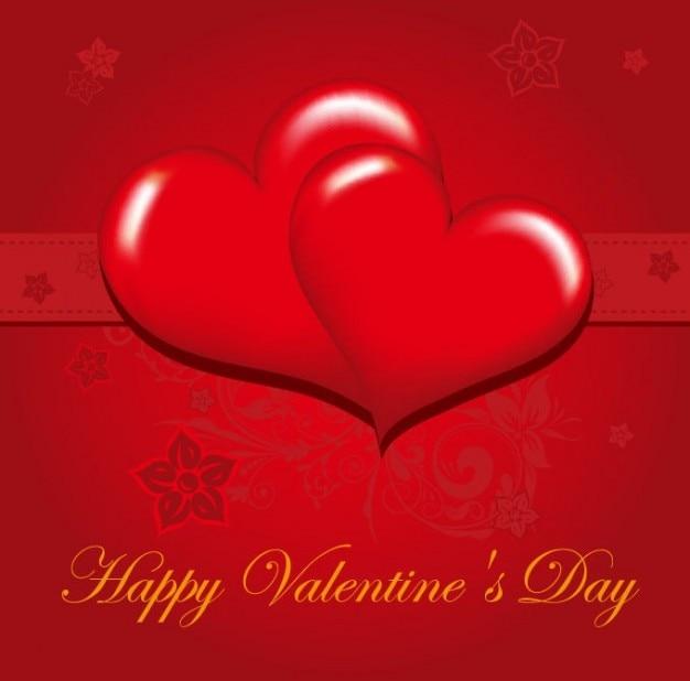 Frei happy valentinstag grußkarte vektor-illustration Kostenlosen Vektoren