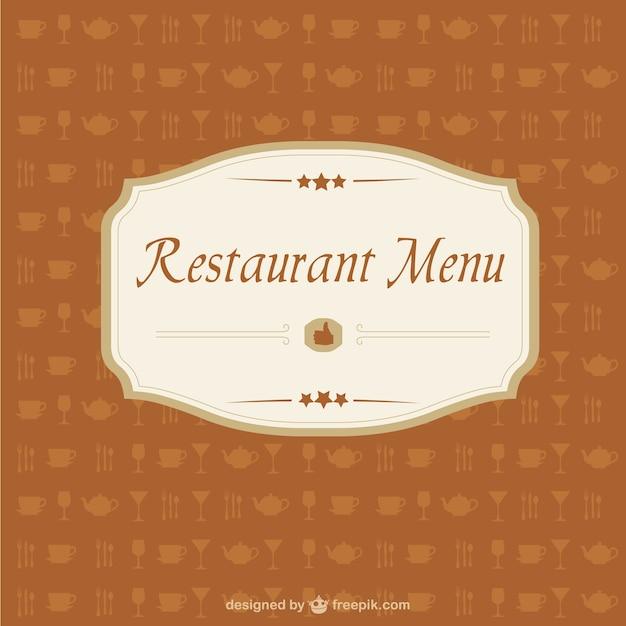 Freie vektor-bild restaurant-menü Kostenlosen Vektoren