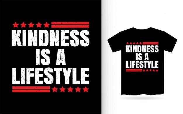Freundlichkeit ist ein lifestyle-typografie-t-shirt Premium Vektoren