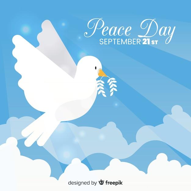 Friedenstag hintergrund Kostenlosen Vektoren
