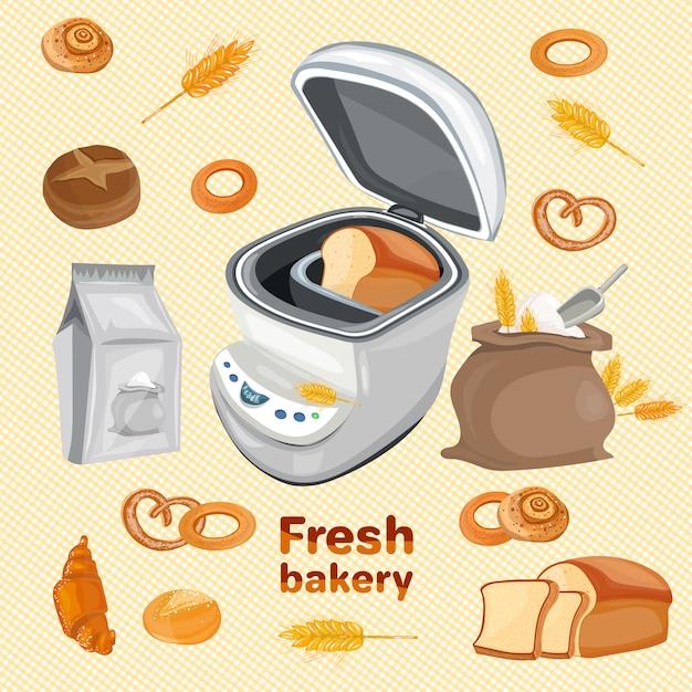 Frische bäckerei Premium Vektoren
