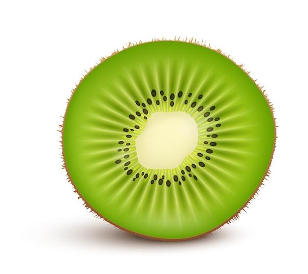 Frische kiwi-fruchtscheibe isoliert Kostenlosen Vektoren
