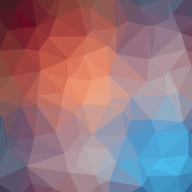 Frischer sommer-kalk-polygonaler hintergrund Premium Vektoren