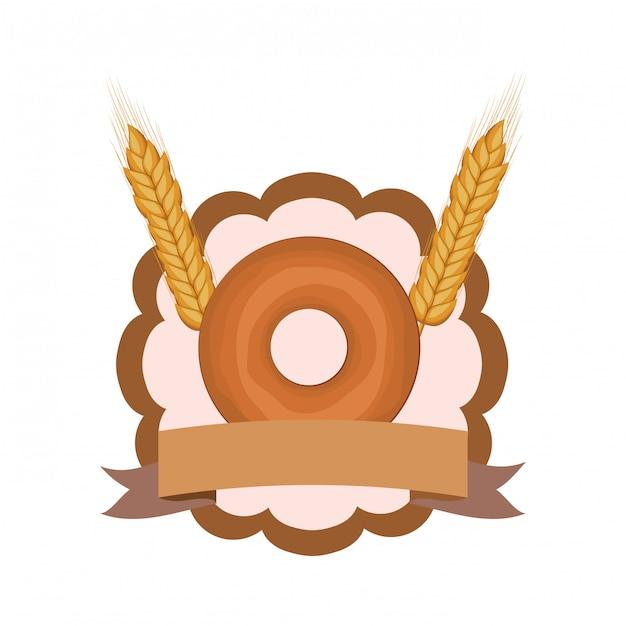 Frischer und köstlicher bäckereidonut Premium Vektoren