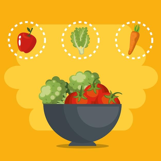 Frisches gemüse gesundes essen Kostenlosen Vektoren