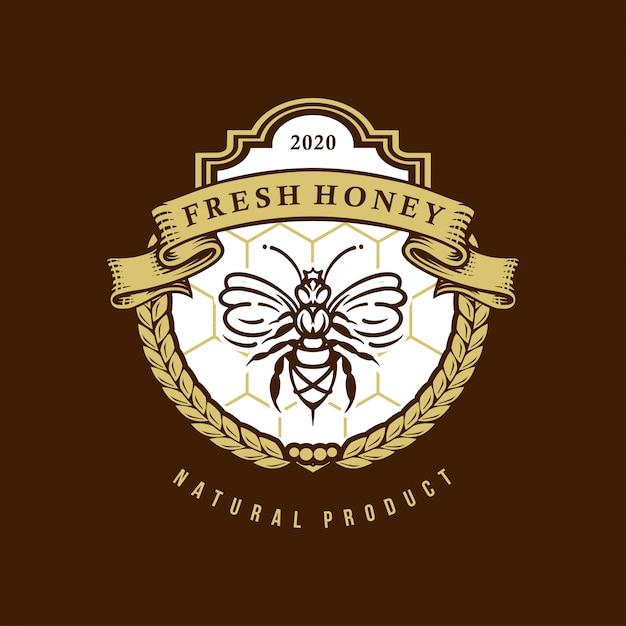 Frisches honig-logo Premium Vektoren