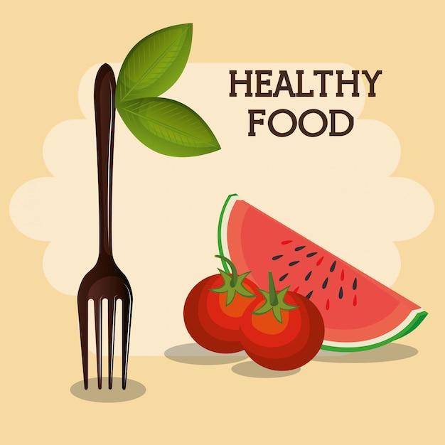 Frisches obst gesundes essen Kostenlosen Vektoren