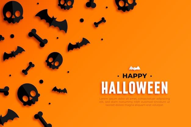 Fröhliche halloween-tapete Kostenlosen Vektoren