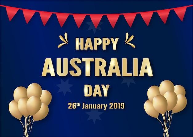 Fröhlicher australia day am 26. januar. Premium Vektoren