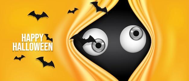 Fröhliches halloween banner. Premium Vektoren
