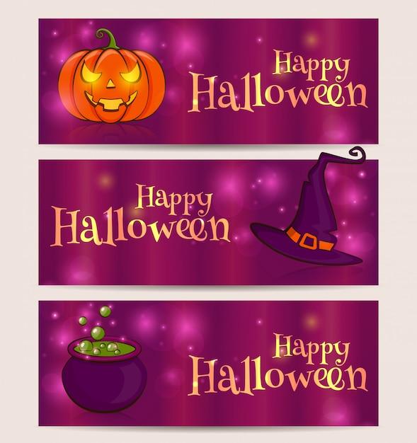 Fröhliches halloween! Premium Vektoren