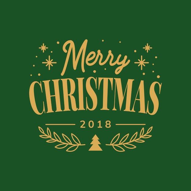 Frohe weihnachten 2018 gruß abzeichen Kostenlosen Vektoren