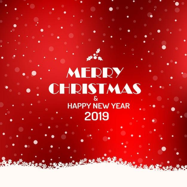 Frohe weihnachten 2019 hintergrund. Premium Vektoren