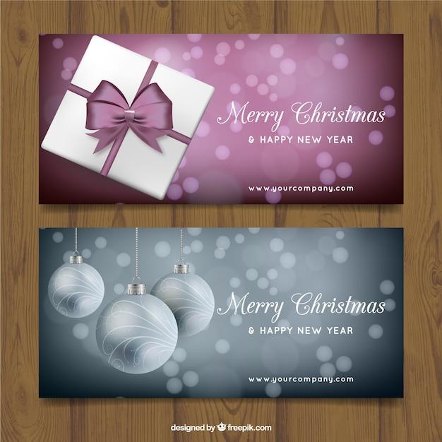frohe weihnachten banner pack download der premium vektor. Black Bedroom Furniture Sets. Home Design Ideas