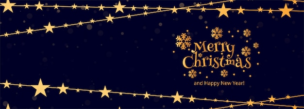 Frohe weihnachten banner vorlage mit ornamenten Kostenlosen Vektoren