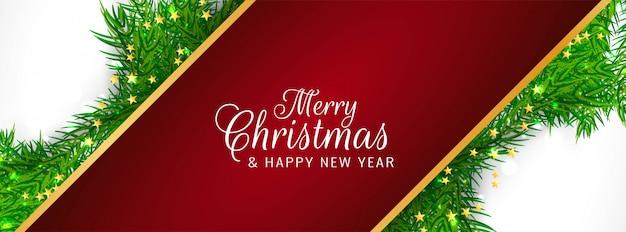 Frohe weihnachten banner Kostenlosen Vektoren
