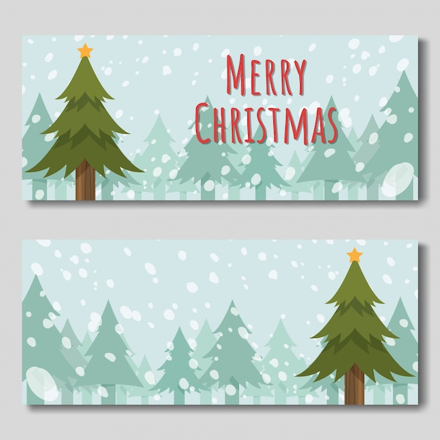 Frohe weihnachten banner Premium Vektoren