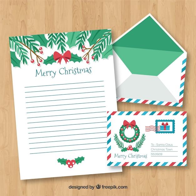 Frohe Weihnachten Briefvorlage Download Der Kostenlosen Vektor