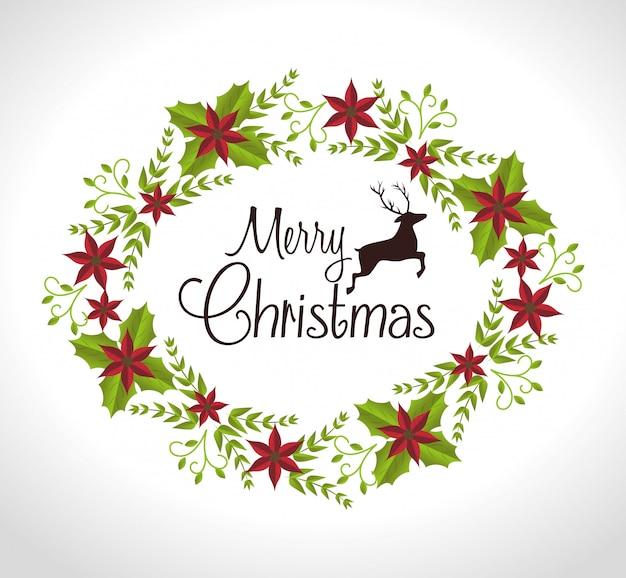 Frohe weihnachten bunte karte Premium Vektoren