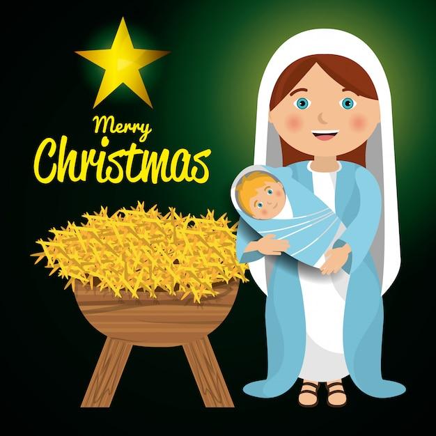 Frohe weihnachten cartoons Kostenlosen Vektoren