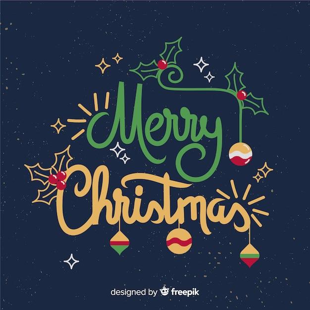 Frohe weihnachten coole briefgestaltung Kostenlosen Vektoren