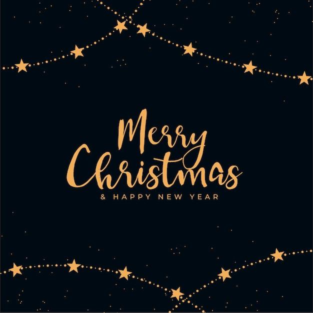 Frohe weihnachten dekorativen schwarzen und goldenen hintergrund Kostenlosen Vektoren