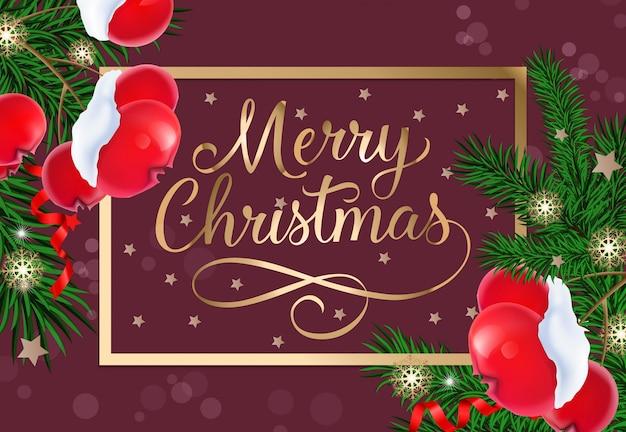 Frohe Weihnachten Rahmen.Frohe Weihnachten Die Im Goldenen Rahmen Beschriften Download Der