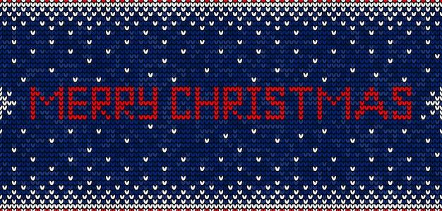 Frohe weihnachten, die nahtloses muster stricken Premium Vektoren