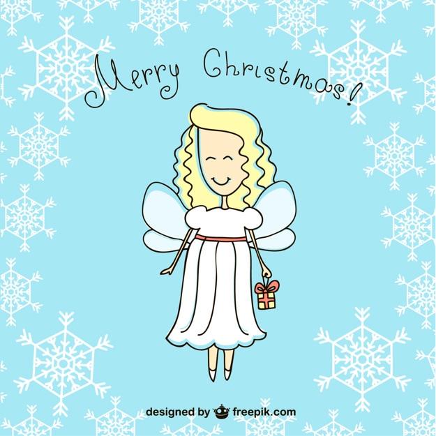 frohe weihnachten engel cartoon download der kostenlosen