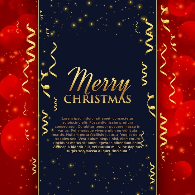Frohe Weihnachten Glitzer.Frohe Weihnachten Feier Gruß Mit Goldenen Konfetti Und Glitzer